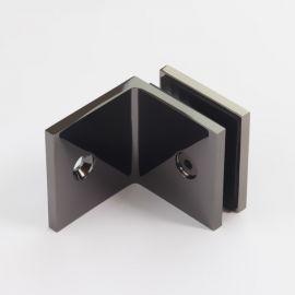 SB50SQPGM Bracket Square Glass to Wall 90 Degree Polished Gunmetal