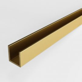 CH15SG Channel 10.6mm Opening 3000mm Length Satin Gold