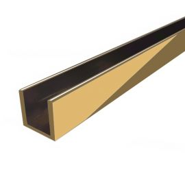 CH18G Channel 14mm Opening 3m Length Polished Bright Gold