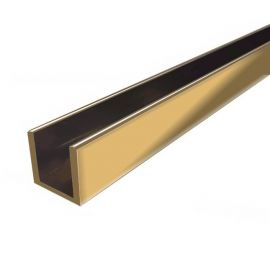 CH1824SG Channel 14mm Opening 2400mm Length Satin Gold