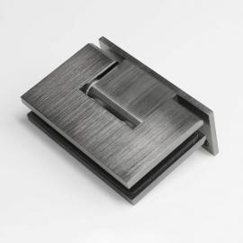 ES1LBGM FORGE Shower Hinge Glass to Wall L-Shape 90 Degree Brushed Gunmetal