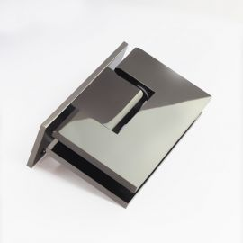 ES1LPGM FORGE Shower Hinge Glass to Wall L-Shape 90 Degree Polished Gunmetal