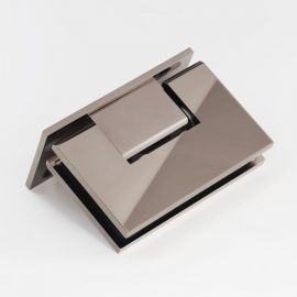 ES1LPN FORGE Shower Hinge Glass to Wall L-Shape 90 Degree Polished Nickel