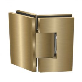 ES2135BB FORGE Shower Hinge Glass to Glass 135 Degree Brushed Brass