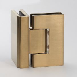 ES290BB FORGE Shower Hinge Glass to Glass 90 Degree Brush Brass