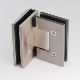 ES290BN FORGE Shower Hinge Glass to Glass 90 Degree Brush Nickel