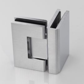 ES290S FORGE Shower Hinge Glass to Glass 90 Degree Satin