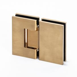 ES2BB FORGE Shower Hinge Glass to Glass 180 Degree Brushed Brass