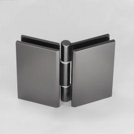ES2BFGM FORGE Shower Hinge Glass to Glass Bifold Gunmetal