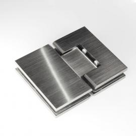 ES2BGM FORGE Shower Hinge Glass to Glass 180 Degree Brushed Gunmetal