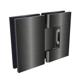 ES2BGM FORGE Shower Hinge Glass to Glass 180 Degree Brushed Gunmetal