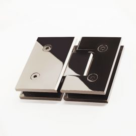 ES2PN FORGE Shower Hinge Glass to Glass 180 Degree Polished Nickel