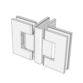 ES3BN FORGE Shower Hinge Glass to Glass Back to Back Brushed Nickel