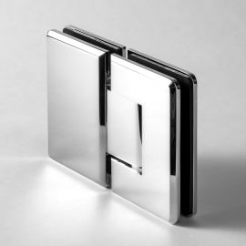 BES2C FORGE Shower Hinge Bevelled Glass to Glass 180 Degree Chrome