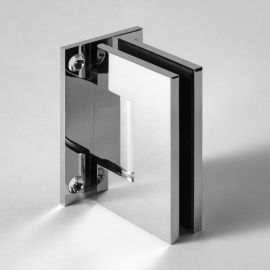ES1C FORGE Shower Hinge Glass to Wall T-Shape 90 Degree Chrome