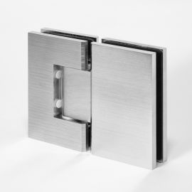 FORGE Shower Hinge Glass to Glass 180 Degree Satin