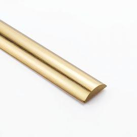 HR1750BB Half Round Water Seal Bar 750mm Brushed Brass