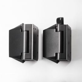 POLGWB Polaris Hinge 120 series Glass to Wall Black Pair of Two