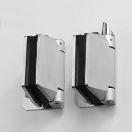 POLGWS Polaris Hinge 120 series Glass to Wall Satin Pair of Two