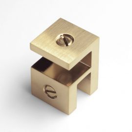 OPF2SQBB Overpanel Fitting Square 10mm/10mm Brushed Brass