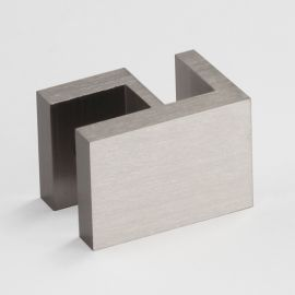 OPF2SQBN Overpanel Fitting Square 10mm/10mm Brushed Nickel