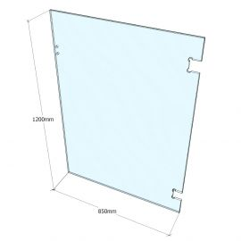 PGGW0850 Pool Glass Gate 12mm Clear 1200 x 850 Polaris Glass to Wall