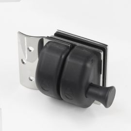 PL1RDP Pool Latch Glass to Wall and Round Post Polish