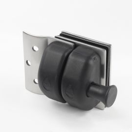 PL1RDS Pool Latch Glass to Wall and Round Post Satin