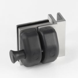 PL290INS Pool Latch Glass to Glass 90 Degree Inswing Satin