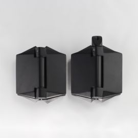POLGGB Polaris Hinge 120 series Glass to Glass 180 Degree Black Pair of Two
