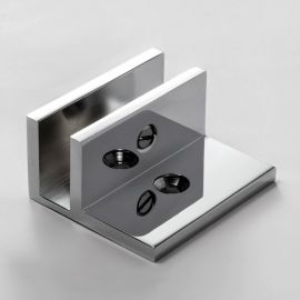 U Bracket Square with Horizontal Leg Chrome