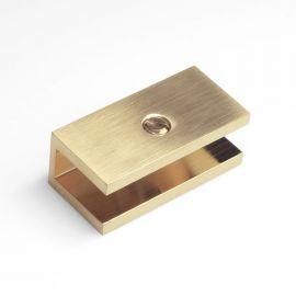 SB10SQBB U Bracket Square Brushed Brass