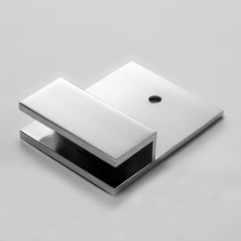 U Bracket Square with Vertical Leg Chrome