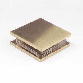 SB45SQBB U Bracket Glass to Wall Mechanical Fixing 90 Degree Brushed Brass