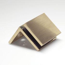 SB50SQBB Bracket Square Glass to Wall 90 Degree Brushed Brass