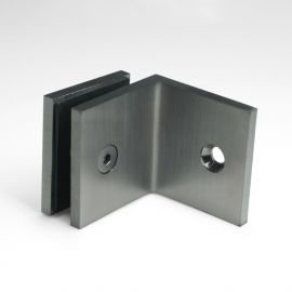SB50SQBGM Bracket Square Glass to Wall 90 Degree Brushed Gunmetal