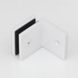 SB50SQW Bracket Square Glass to Wall 90 Degree White