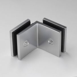 SBD50SQPC Bracket Square Glass to Glass 90 Degree Pearl Chrome