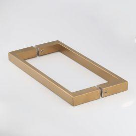 SH250SQBB Handle Rectangular D 275x25x13 250mm CTC Brushed Brass