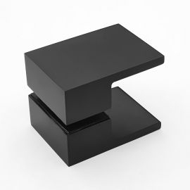 Square Shower Knob Handle Black