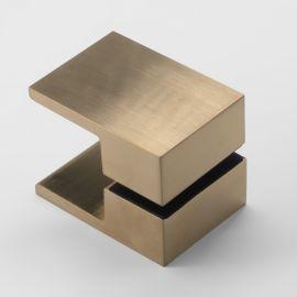 SK50BB Square Shower Knob Handle Brushed Brass