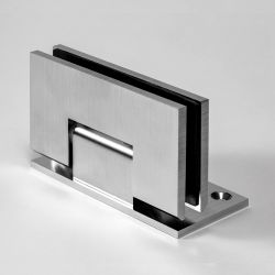 ES1LHDS FORGE Shower Hinge Heavy Duty Glass to Wall L-Shape 90 Degree Satin