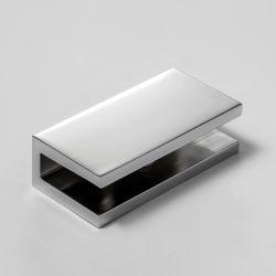 SB6SQC U Bracket Square 6mm Glass Chrome