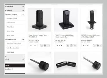 New Matte Black Balustrade Hardware